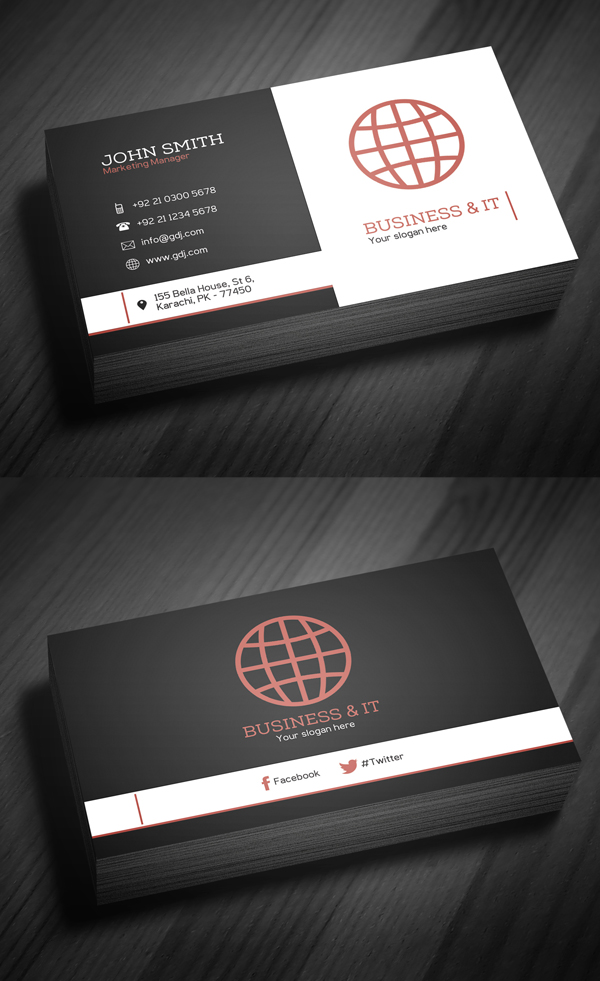 Professional Corporate Business Card – 001 – Moksha Host Canada ...